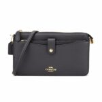 Coach leather ladies shoulder bag – Navy