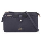Coach leather ladies shoulder bag – Black