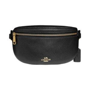 Coach Polished Pebble Belt Bag – Black