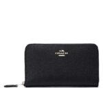 Coach Medium Zip Around Wallet – Black