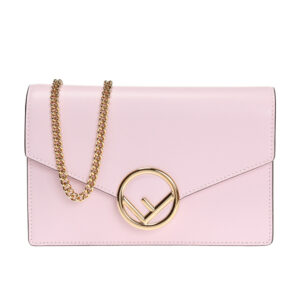 FENDI Wallet on Chain Leather Bag – Pink