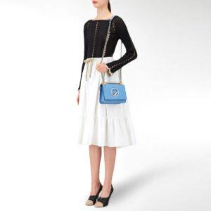 FENDI Kan I mini bag – blue