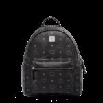 MCM Stark Classic Backpack in Visetos – Black