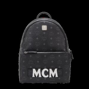 MCM Trilogie Stark Backpack in Visetos – Black