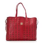 MCM Large Shopper Project Visetos Reversible Shopper – Red