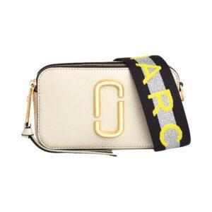 Marc Jacobs Snapshot Small Leather Cross-Body Bag – Light Gray