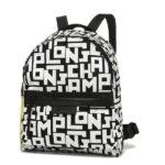 Longchamp LGP 細背包 黑色/白色 (067)