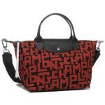 Longchamp LGP 兩用系列 細手袋 黑色/磚紅色 (C09)