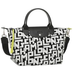 Longchamp LGP 兩用系列 細手袋 黑色/白色 (067)