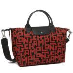 Longchamp LGP 兩用系列 中手袋 黑色/磚紅色 (C09)