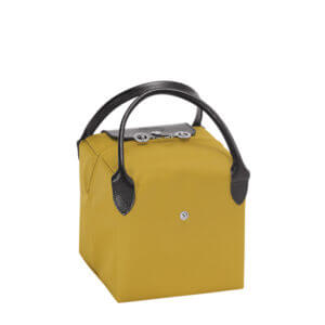 Longchamp x NENDO Cube 細手提包 (黃色/黑色)
