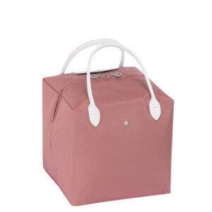 Longchamp x NENDO Cube 中手提包 (粉紅色/白色)
