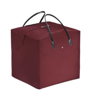 Longchamp x NENDO Cube 大手提包 (酒紅色/黑色)