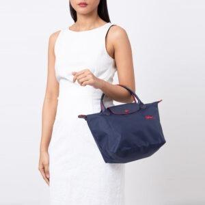 Longchamp Club 短柄 細手提袋 海軍藍 (556)