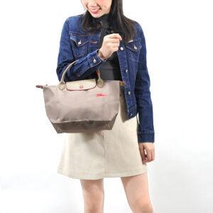Longchamp Club 短柄 細手提袋 棕色 (P18)