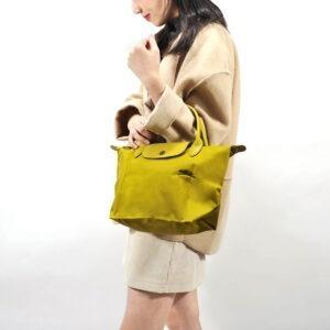 Longchamp Club 短柄 細手提袋 檸檬黃 (P19)