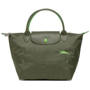 Longchamp Club 短柄 細手提袋 冷杉綠 (549)