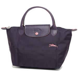 Longchamp Club 短柄 細手提袋 紫色 (645)