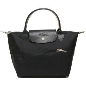 Longchamp Club 短柄 細手提袋 黑色 (001)