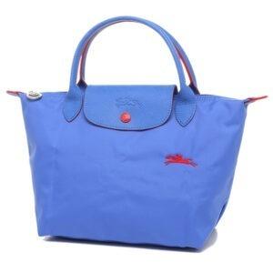Longchamp Club 短柄 細手提袋 藍紫色 (P23)