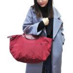 Longchamp Club 短柄 中手提袋 石榴紅 (C87)