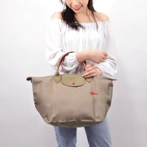 Longchamp Club 短柄 中手提袋 棕色 (P18)