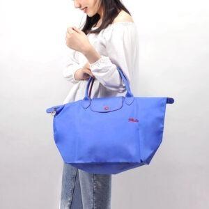 Longchamp Club 短柄 中手提袋 藍紫色 (P23)