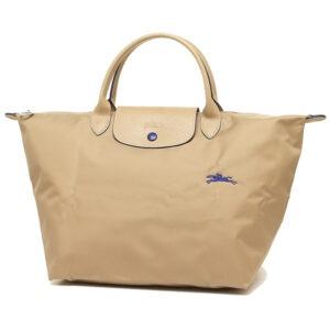Longchamp Club 短柄 中手提袋 米色 (841)