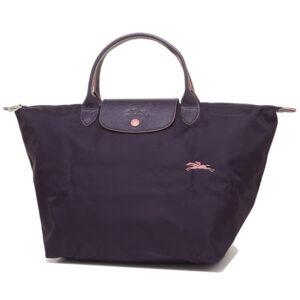 Longchamp Club 短柄 中手提袋 紫色 (645)