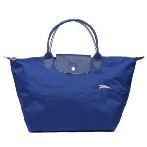 Longchamp Club 短柄 中手提袋 鈷藍色 (P24)