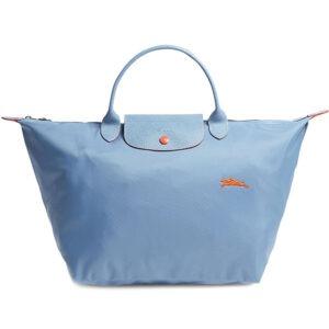 Longchamp Club 短柄 中手提袋 粉藍 (564)