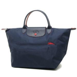 Longchamp Club 短柄 中手提袋 海軍藍 (556)
