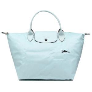 Longchamp Club 短柄 中手提袋 雲藍色 (P32)