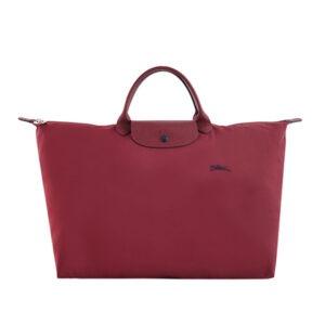 Longchamp Club 短柄 大旅行包 石榴紅 (C87)