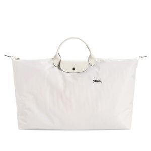 Longchamp Club 短柄 特大旅行包 粉白色 (337)