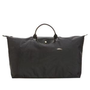 Longchamp Club 短柄 特大旅行包 黑色 (001)