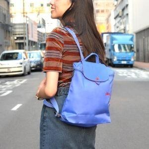 Longchamp Club 經典背包 藍紫色 (P23)