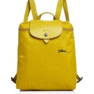 Longchamp Club 經典背包 檸檬黃 (P19)