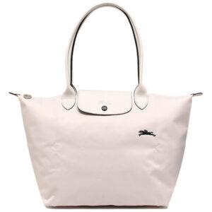 Longchamp Club 長柄 大購物包 粉白色 (337)
