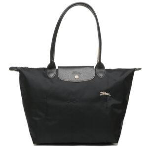 Longchamp Club 長柄 大購物包 黑色 (001)
