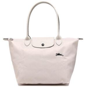 Longchamp Club 長柄 細購物包 粉白色 (337)