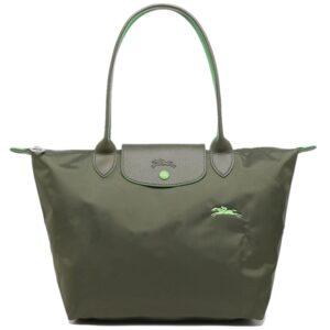 Longchamp Club 長柄 細購物包 冷杉綠 (549)