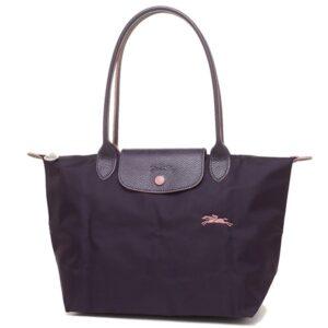 Longchamp Club 長柄 細購物包 紫色 (645)