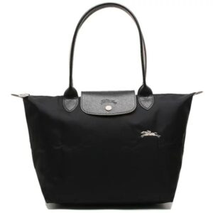 Longchamp Club 長柄 細購物包 黑色 (001)
