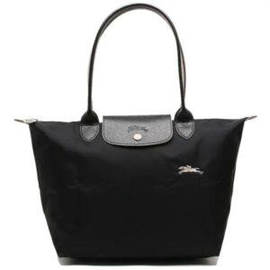 Longchamp Club 長柄 細購物包 黑色 (001)