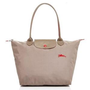Longchamp Club 長柄 細購物包 棕色 (P18)