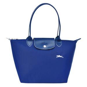 Longchamp Club 長柄 細購物包 鈷藍色 (P24)