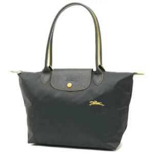 Longchamp Club 長柄 細購物包 鐵灰色 (300)