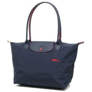 Longchamp Club 長柄 細購物包 海軍藍 (556)