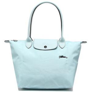 Longchamp Club 長柄 細購物包 雲藍色 (P32)